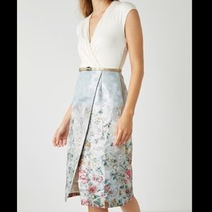 Ted Baker London Macal Patchwork Wrap Dress